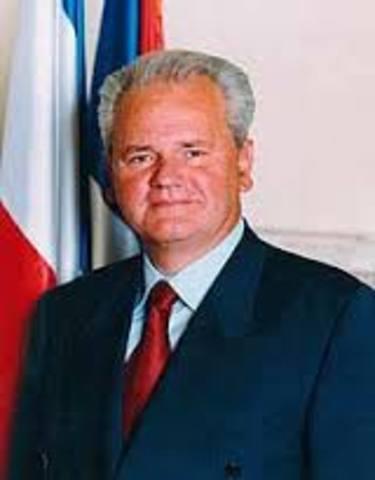 Slobodan Melosevic replaces Tito