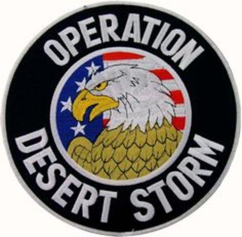 Operation Desert Storm Begins-Persian Gulf