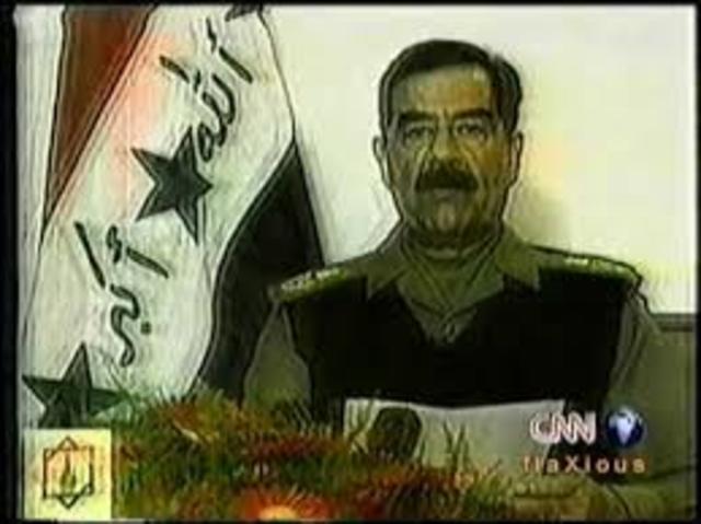 Hussein Delivers Speech