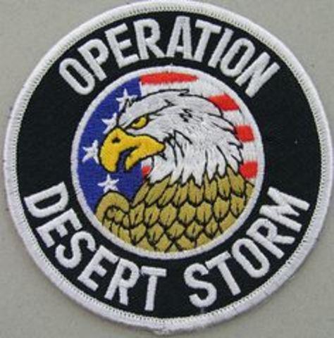 Persian Gulf- Operation desert Storm