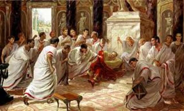 Julius Caesar is killed