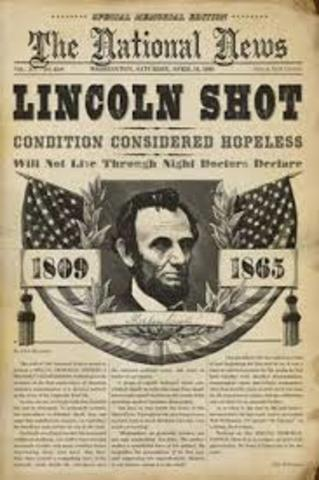 1865 A.D President Lincoln is killed