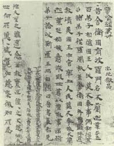 100 A.D  Paper invented in China