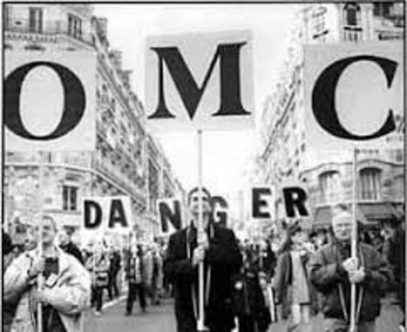 Manifestaciones contra la cumbre de la OMC en Seattle