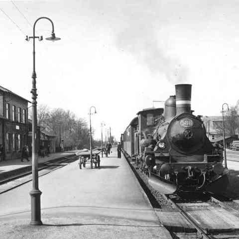 Første jernbane i Danmark