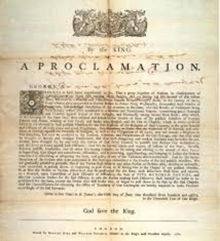 Signature of the Royal Proclamation