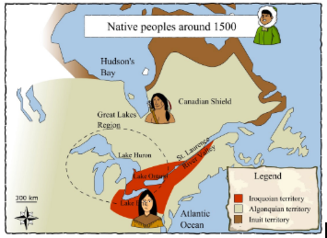 Amerindians Spread out in Canada