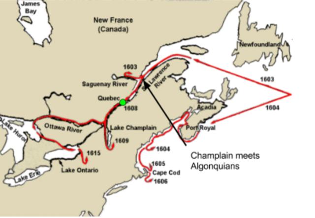 Samuel Champlain and the settlement of Quebec