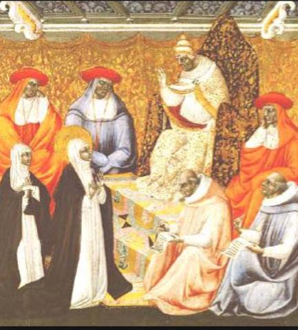 1309 - 1378 = The Babylonian Captivity (aka Avignon Papacy)