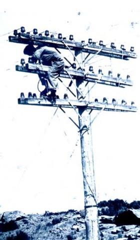 Instalación de la primera red telegráfica