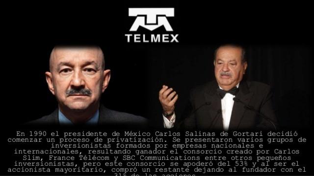 TELMEX se privatiza