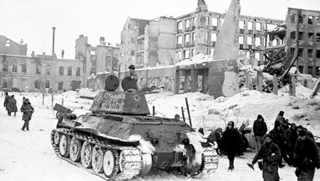 Gran ofensiva del Ejercito Rojo en la región de Stalingrado (Rusia)