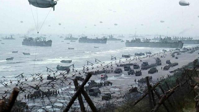 Desembarco de las tropas aliadas en Normandia; el Día D.