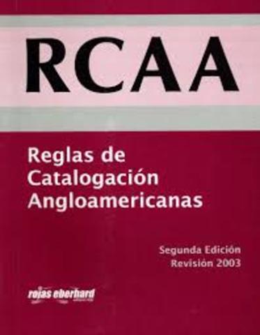REGLAS DE CATALOGACIÓN ANGLOAMERICANAS