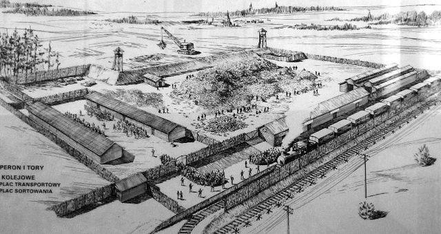 Sublevación en el campo de exterminio de Treblinka (Polonia). 200 judíos escapan pero los nazis los atrapan, En Treblinka han muerto 900.000 judíos.