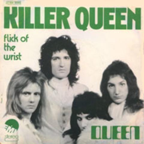 """Lanzamiento del simple """"Killer Queen""""/""""Flick of the Wrist"""""""