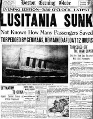 Sinking of Lusitania