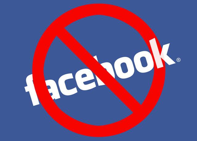 Prohibición de Facebook.