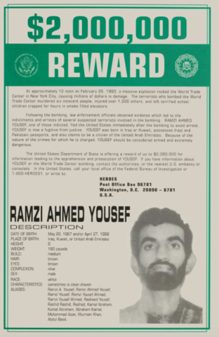 FBI Adds Ramzi Yousef to Most Wanted List