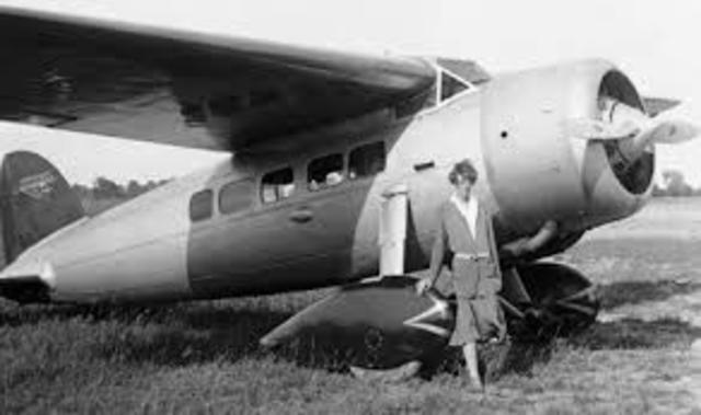 First Woman to fly solo across Atlantic Ocean