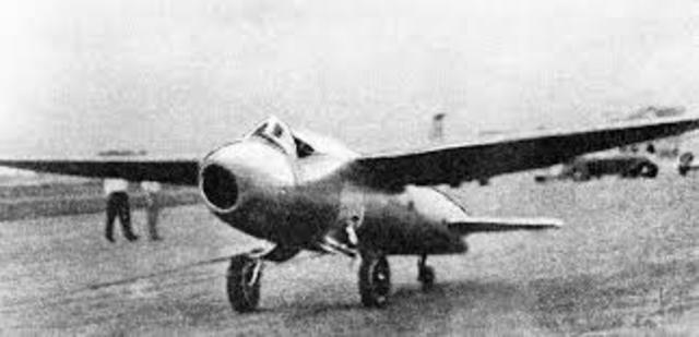 First Jet Powered Plane Flight