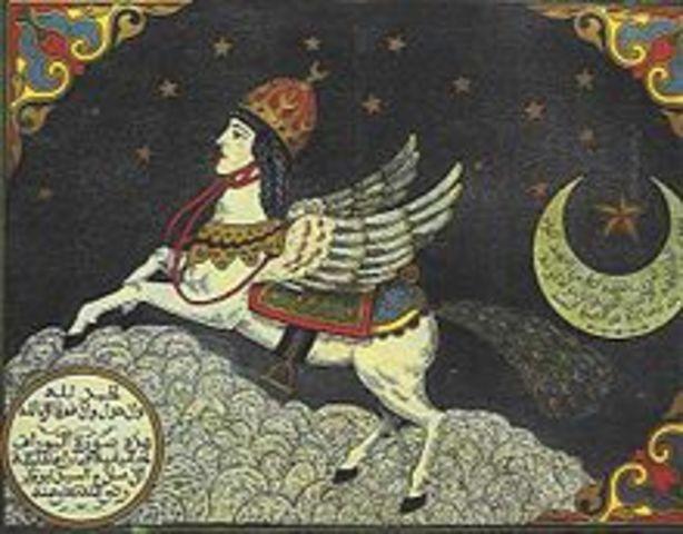 Muhammad assent into mi`raj