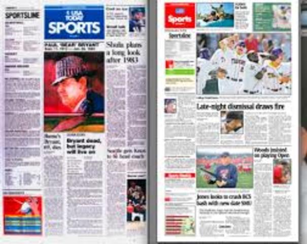 color in newspaper