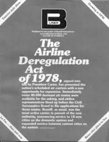 The Airline Deregulation Act