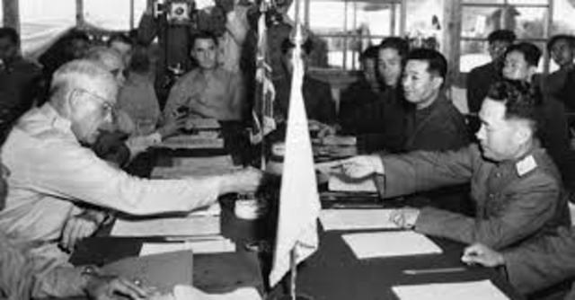 End of Fighting in Korea