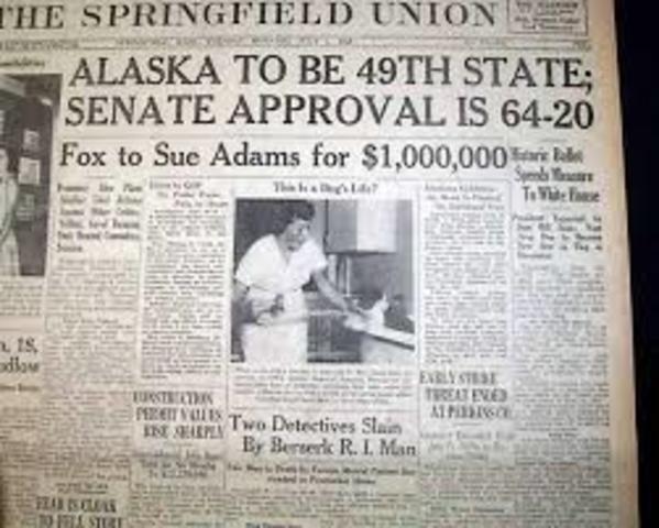 Alaska Becomes 49th State