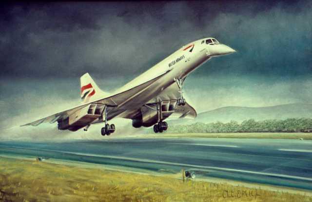 First super sonic passenger flight