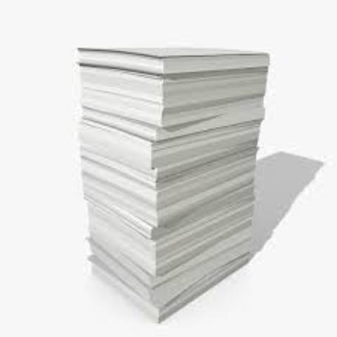 lack of paper hinders publication