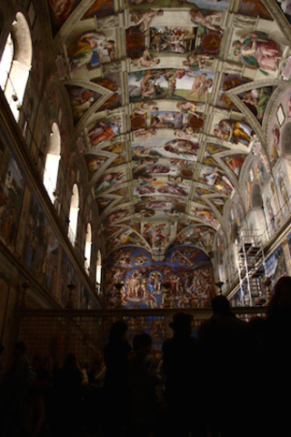 Michelangelo Finishes His Painting of the Sistine Chapel