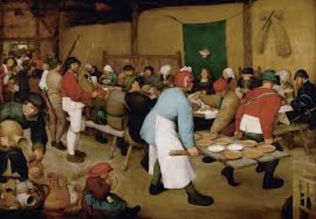 The Peasant Wedding by Pieter Brueghel
