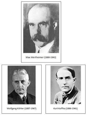 Kholer, Wertheimer y Kofka.