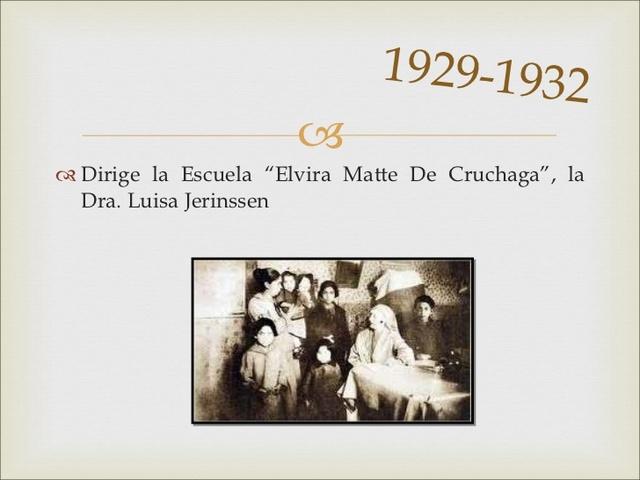 """a Escuela """"Elvira Matte de Cruchaga"""