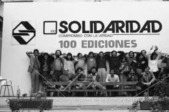 asistentes sociales de la Vicaría de la Solidaridad