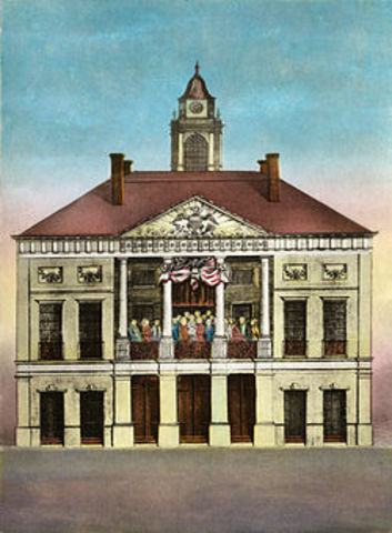 The Stamp Act Congress Meeting
