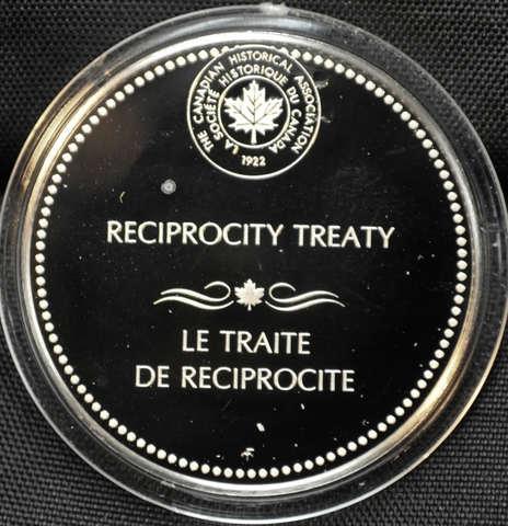 Reciprocity Treaty signed between British North America and the USA