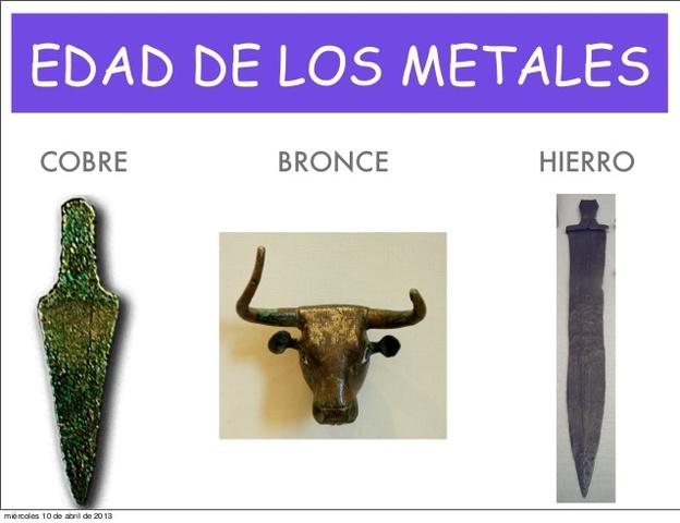 Cobre, bronce y hierro
