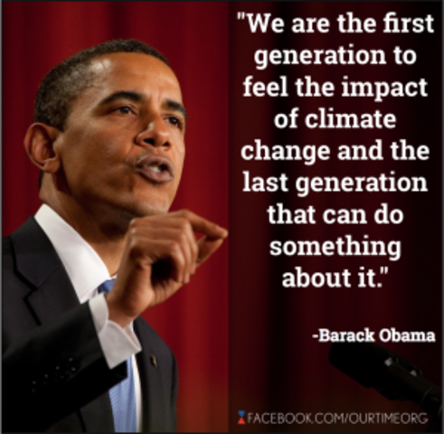 June 25, 2013 - President Obama releases his climate action plan including increased use of renewable energy and carbon pollution restrictions for power plants
