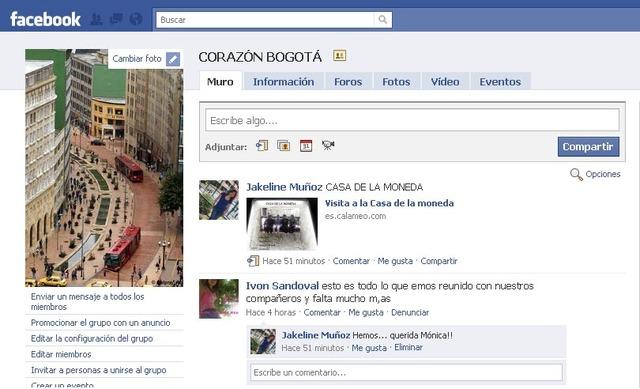 Facebook Bogotá.