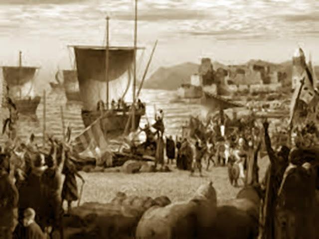 Comienzo de la conquista de Hispania por las tropas musulmanas