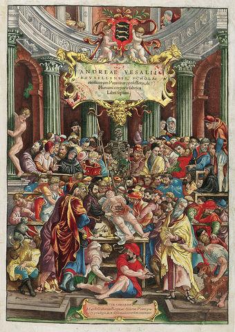 """De humani corporis fabrica libri septem"" de Andres Vesalio"