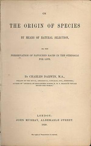 """""""El origen de las especies"""" de Ch. Darwin"""
