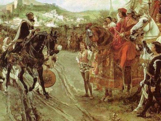Entrega de las llaves de la ciudad de Granada a los Reyes Católicos