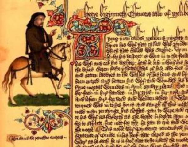 Chaucer writes The Canterbury Tales