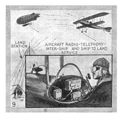 Radio Transmission from and Airplane