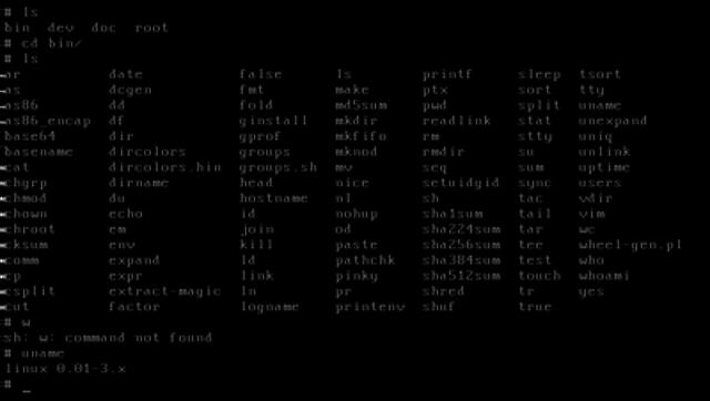 primera versión de lnux