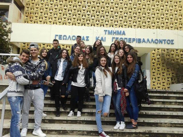Επίσκεψη της ομάδας για τα σπήλαια στα μουσεία Γεωλογίας και Παλαιολογίας